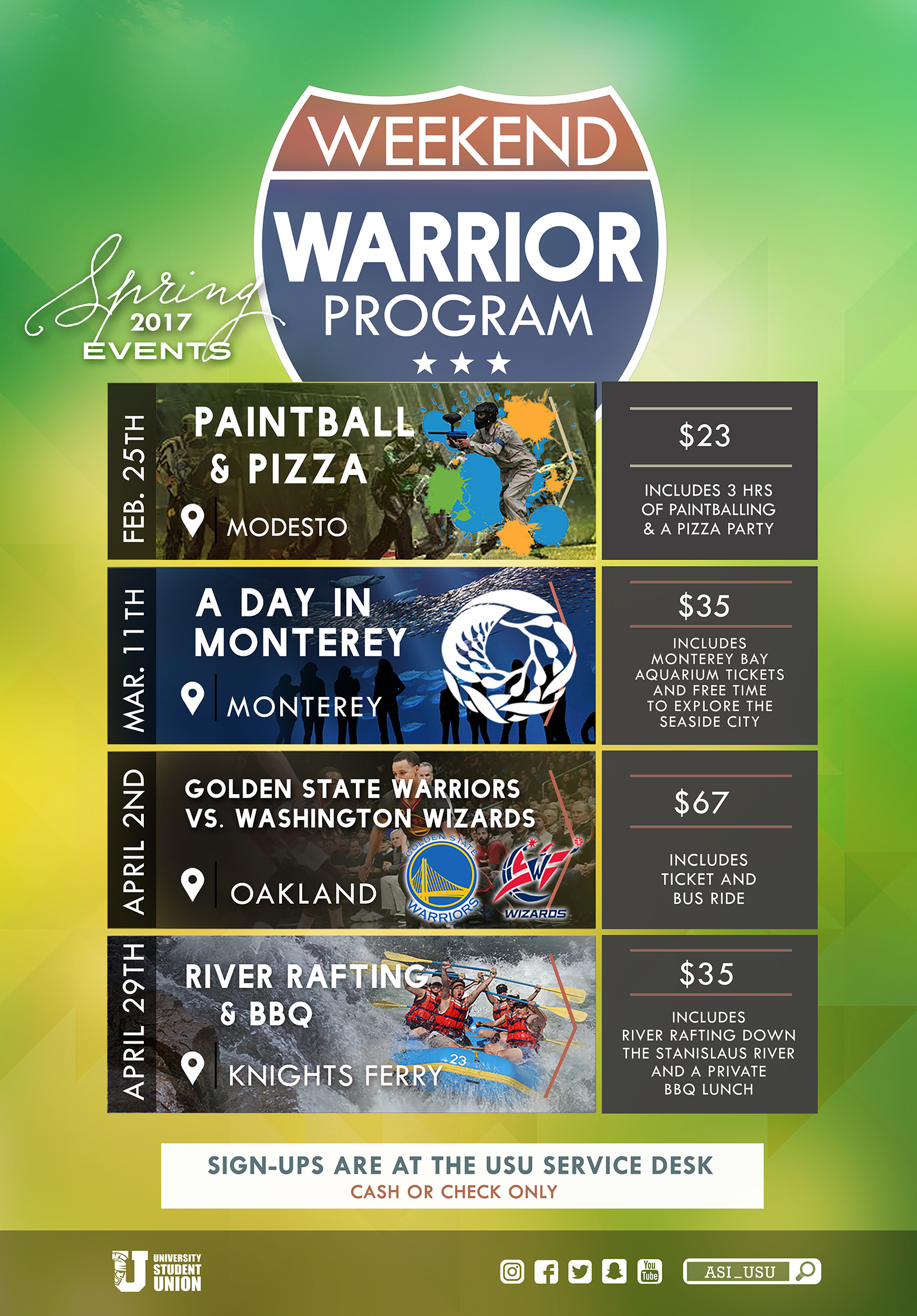 Weekend Warrior Flyer