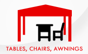 Tables and Awnings Icon