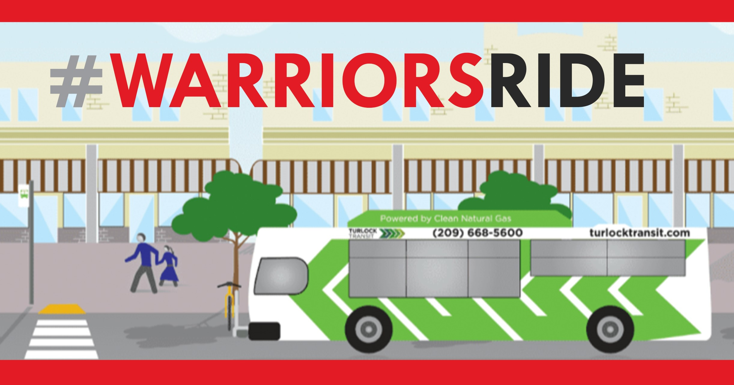 Turlock Transit Graphic with Bus