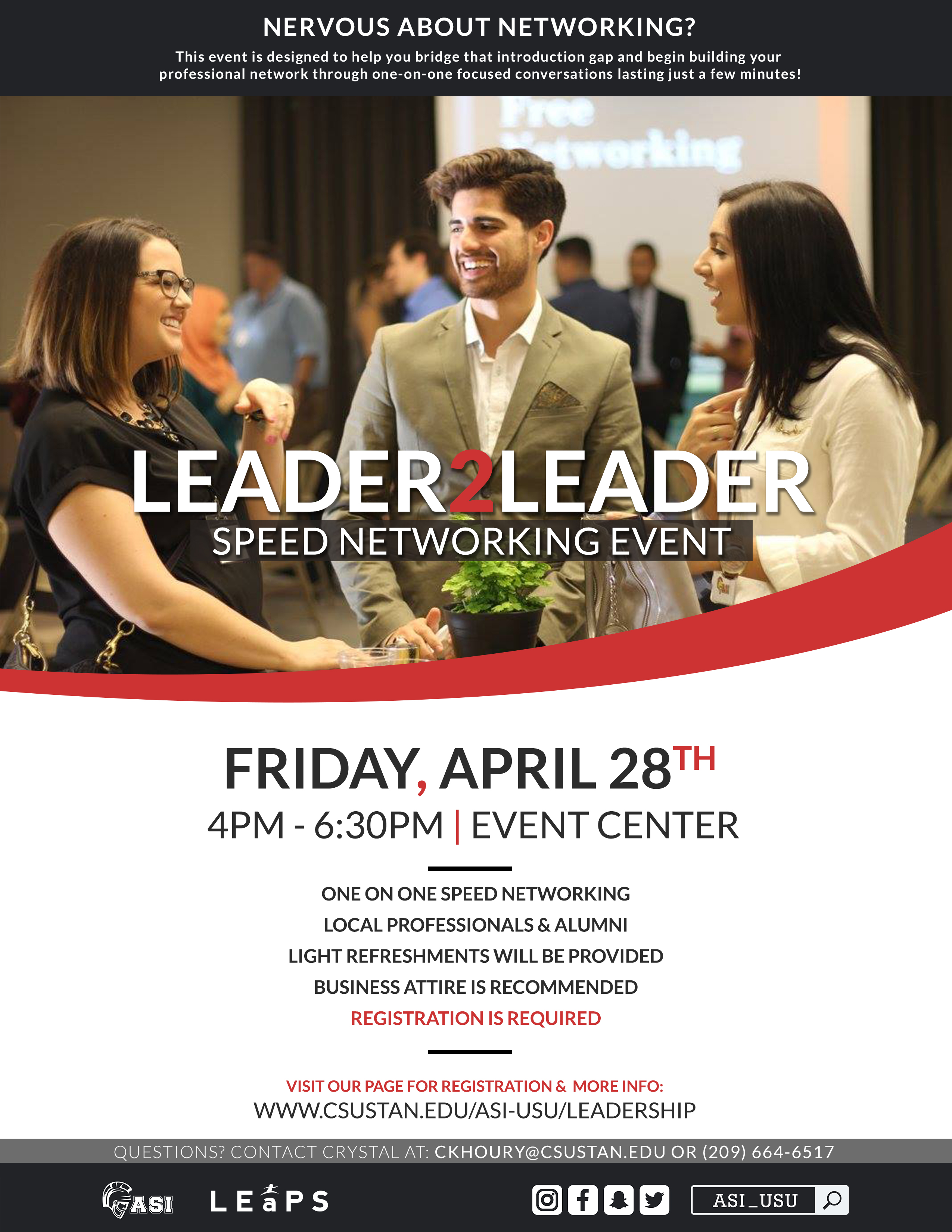 Leader 2 Leader speed networking event