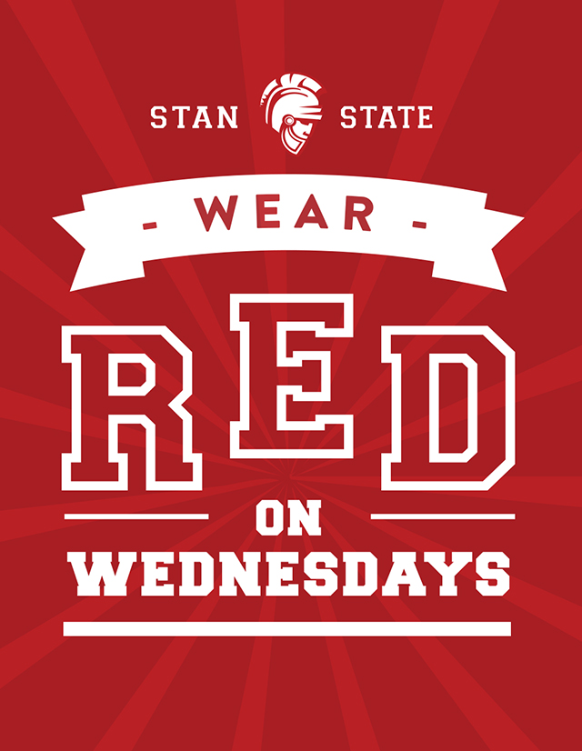 Stan State, wear RED on Wednesdays