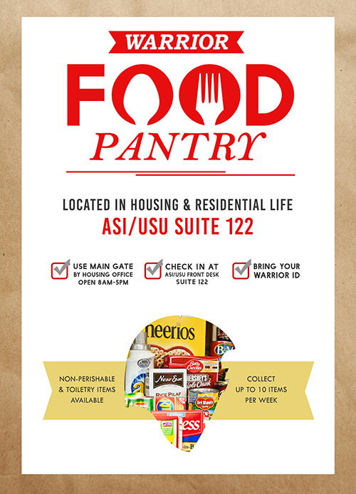 Warrior Food Pantry Flyers