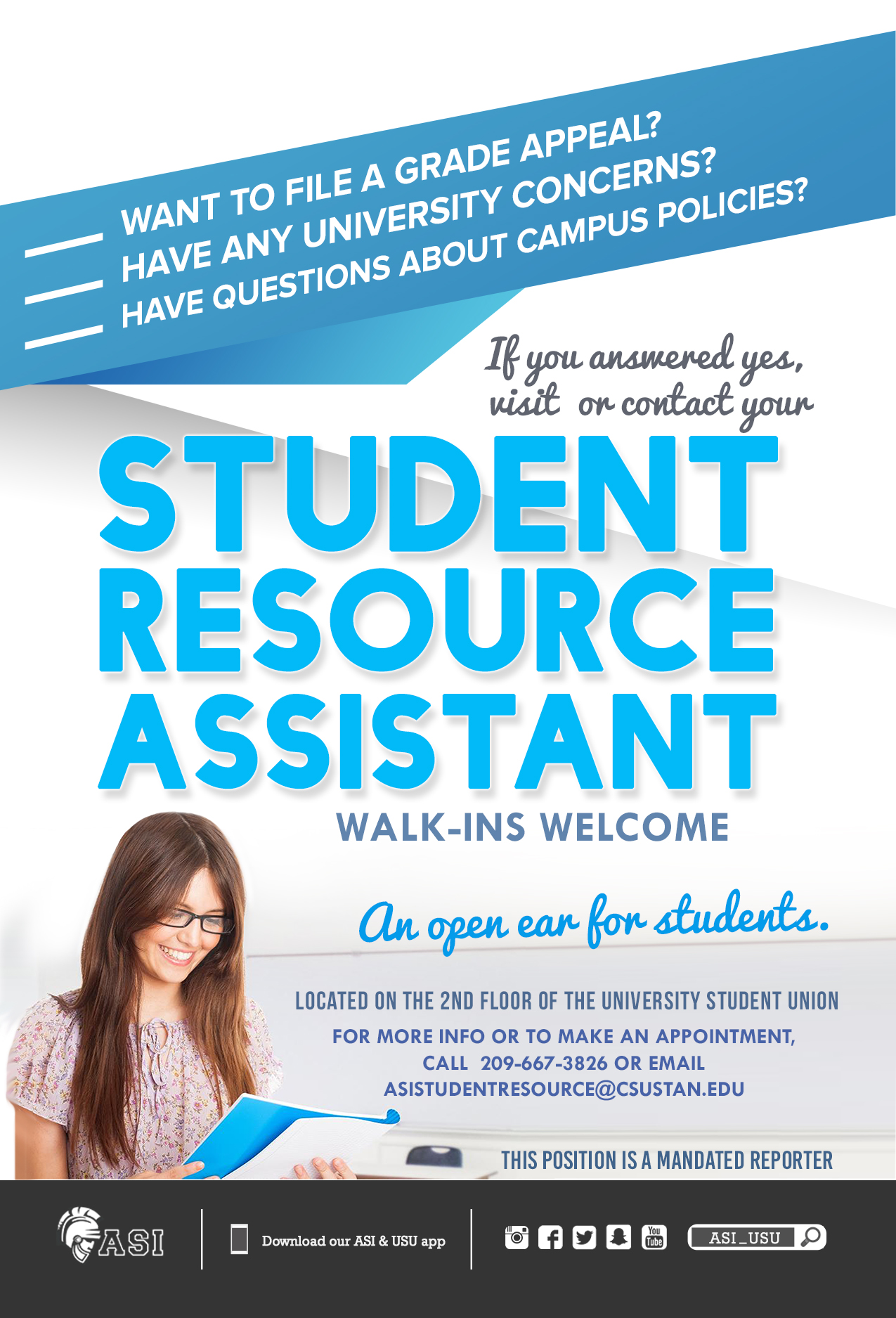 Student Resource Assistant Flyer