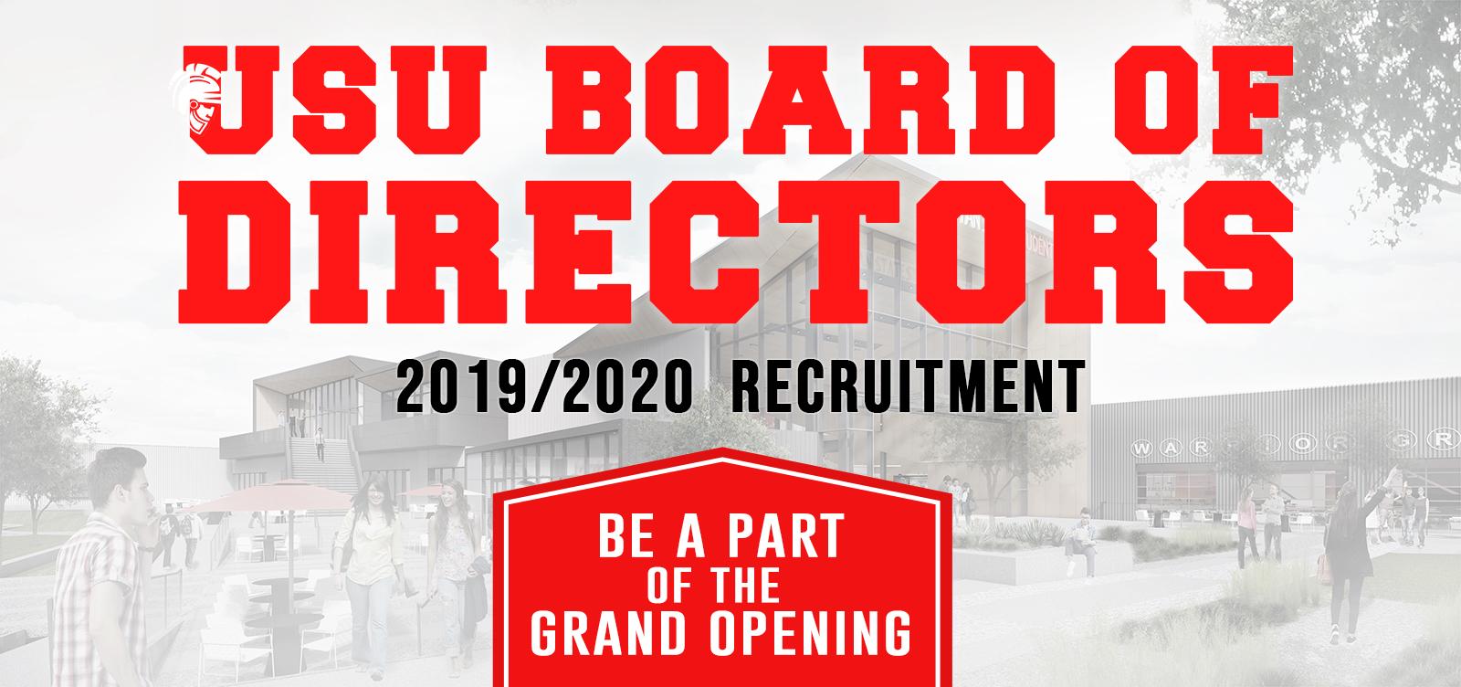 USU Board of Directors Recruitment Banner